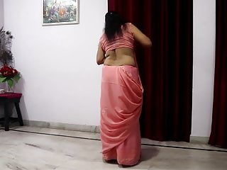 Indian horny mommy, pink saree