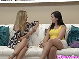Busty lesbian babe fingering french pussy