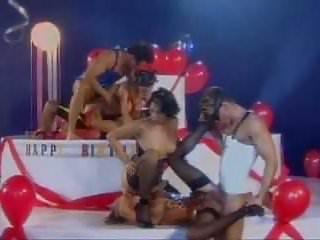 Kinky birthday group fetish sex...