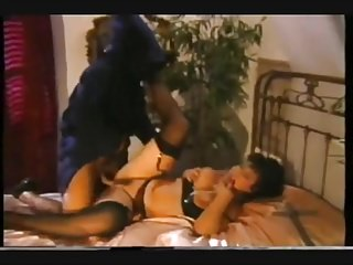 Tits fucked in stockings by cloaked freak...