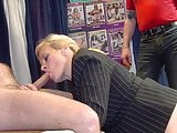 Secretary enjoys gangbang