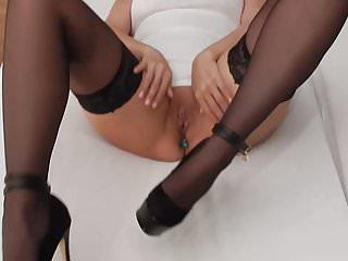 Flashing My Buttplug & Fingering my Pierced Cunt in Heels