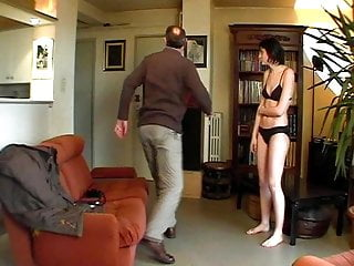 en CMNF Cute spanked stripped punished girl - French