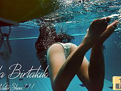Juicy ass brunette babe Alla Birtakik swimming