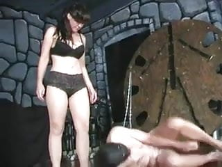 Mistress Punching Slaves Balls