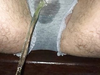 Grey panty piss no.3