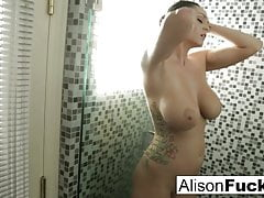 alison showers and plays with her tight pussyPorn Videos