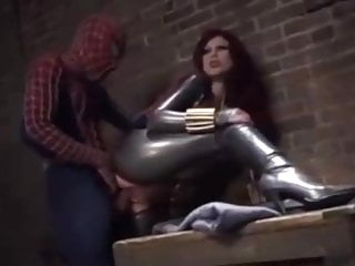 and Spider black widow man
