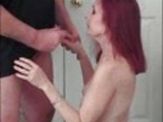 Naked posing and blowjob...