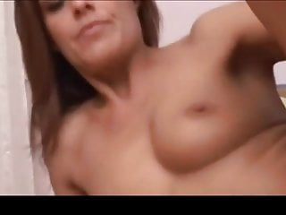 Brunette milf dildos pussy and fucks and sucks younger guy