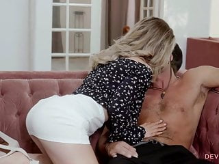 Petite blonde cheating on her husband