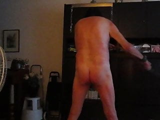 Self punishment of a shemale slave