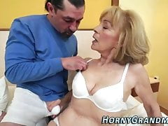 Granny gets fucked by younger stud