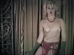 Twist again - calze vintage di danza bionda di calze