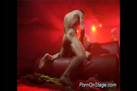 Porn on stage stripper gets big cock fucked and oral