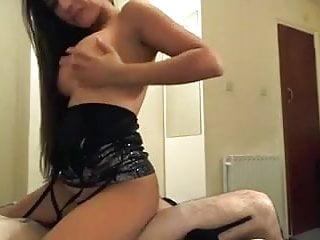 Sexy Brunette Riding Cowboy