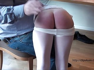 Spanked in front of a...