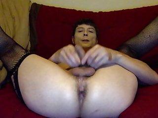 Cums all over spread ass...