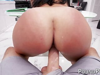 Big ass babe Mona Azar ball licking big cock deepthroat