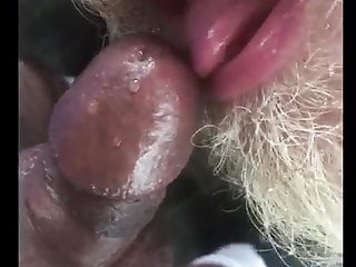 Son pissing dady mouth and cum...