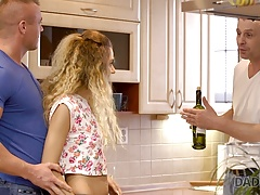 Daddy4k. Curly-haired Stunner Monique Forest And Mature Man