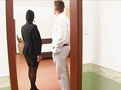 Euro Landlady Gets Paid in Cock