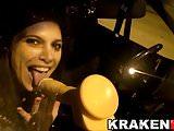 Krakenhot - Crazy girl in public sucking a dildo in the car