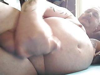 big bear wank on the bed