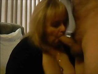 Big grandma sucking young dick...