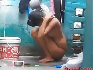 Desi girl nude in bathroom...