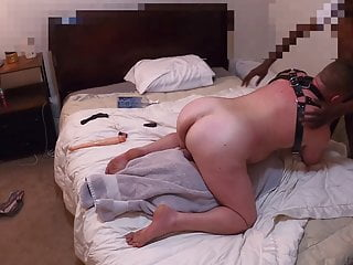 Young BBC Deep Breeds Big White Bottom in Leather Harness