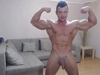 Str8 bodybuilder flexing...