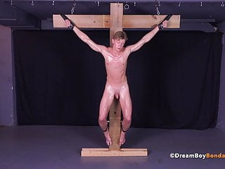 Hot russian twink crucifixion gay bondage bdsm torture...