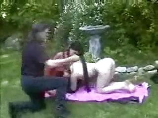 Outdoor Lesbian Fetish Play