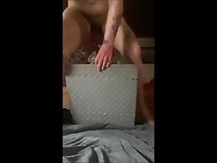 She fucks her asshole until she squirts