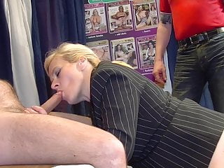 The Swinger Experience Presents Secretary enjoys gangbang