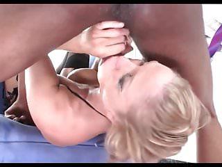 Busty Blonde JA Sloppy Interracial Face Fuck