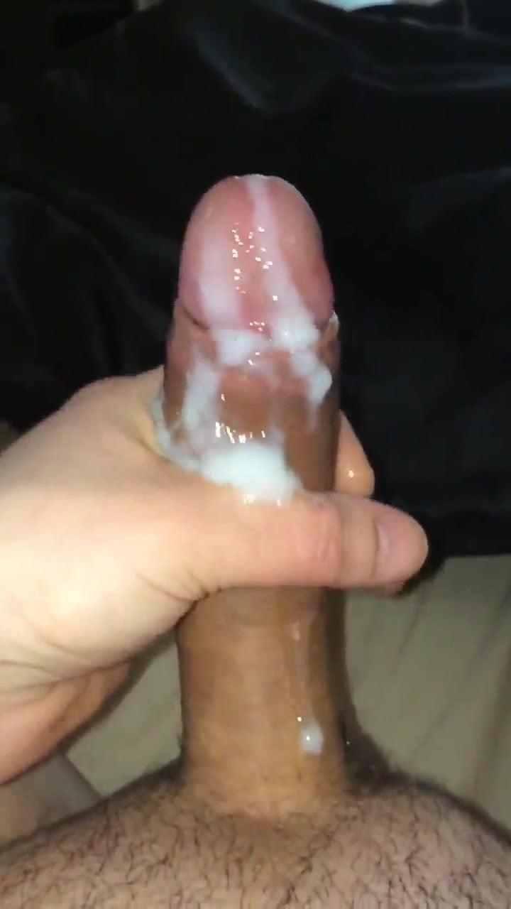 Rubbing Thick Cum Into My Cock Gay Cum Rubbing Gay Thick Cock