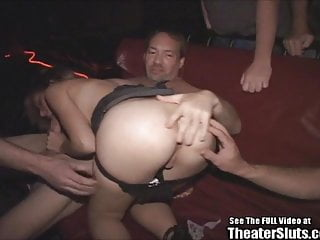 Teen With Tiny Tits Fucked By Theater Perverts