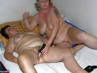 Chubby granny and masturbating...