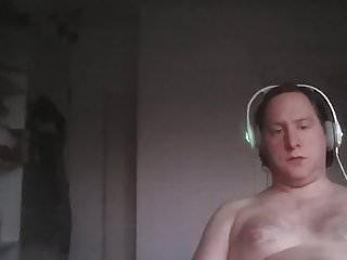 The guy cumming...