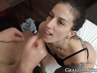 Old magnificence passionately sucking candy younger shaft