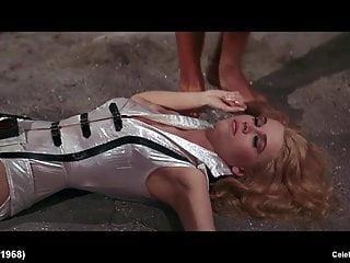 Blonde celeb jane fonda hot striptease scenes...