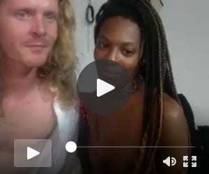 Scandinavian dude sucked by Black Queen