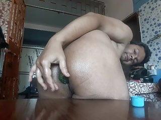 Cucumber Penis inside my ass