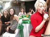 Party girls can't wait to suck cock