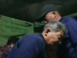 Asian grandpa blows freind infront of wife...