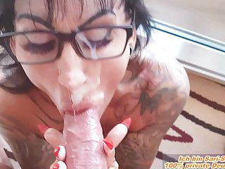 Mega face with glasses german big tits milf...