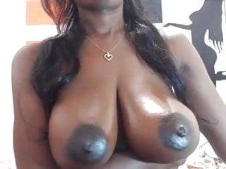 Nipples on chocolate breasts...