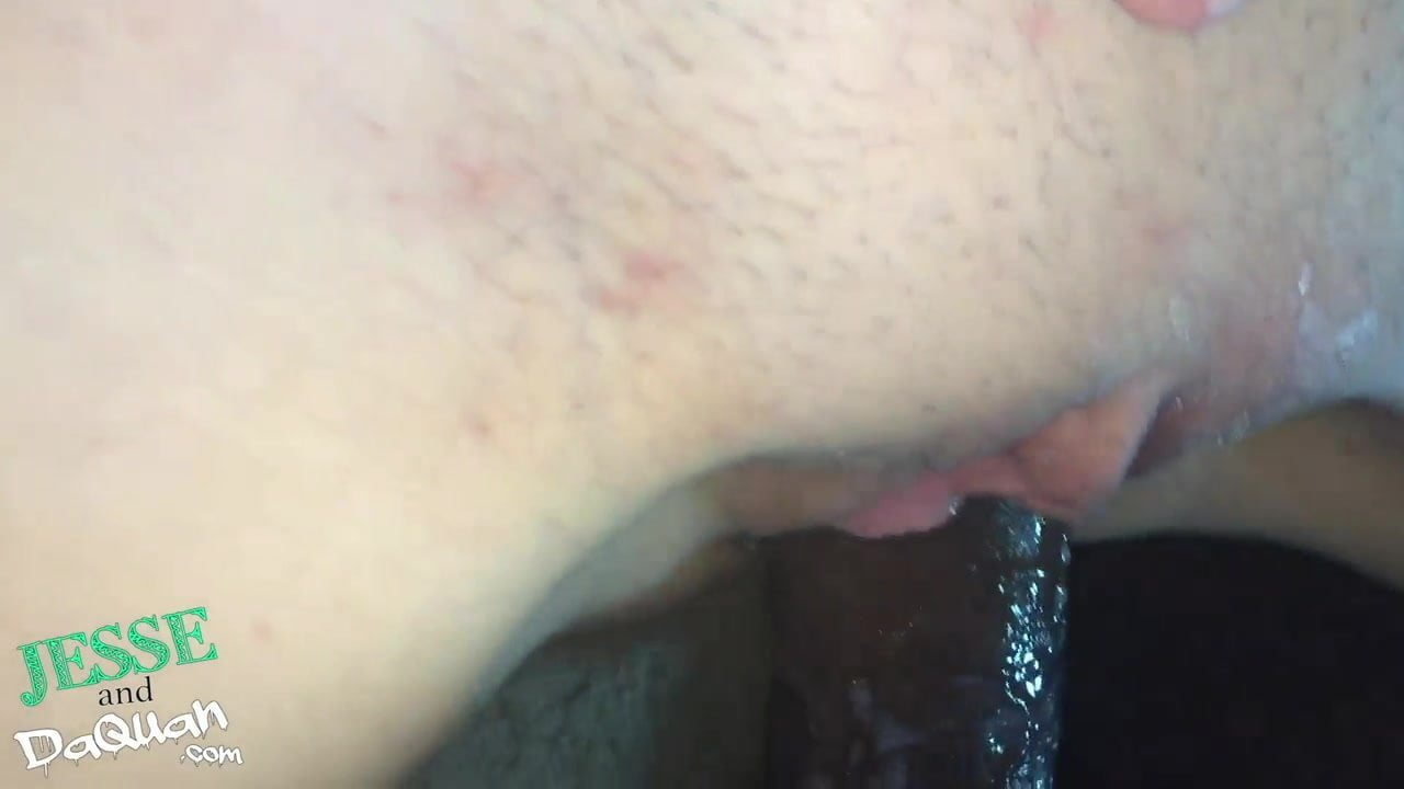 Close up of me creaming on a big black cock